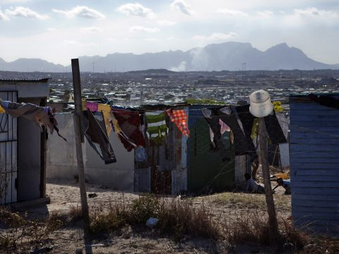 A general view of squatter shacks in Cape Town's Khayelitsha township