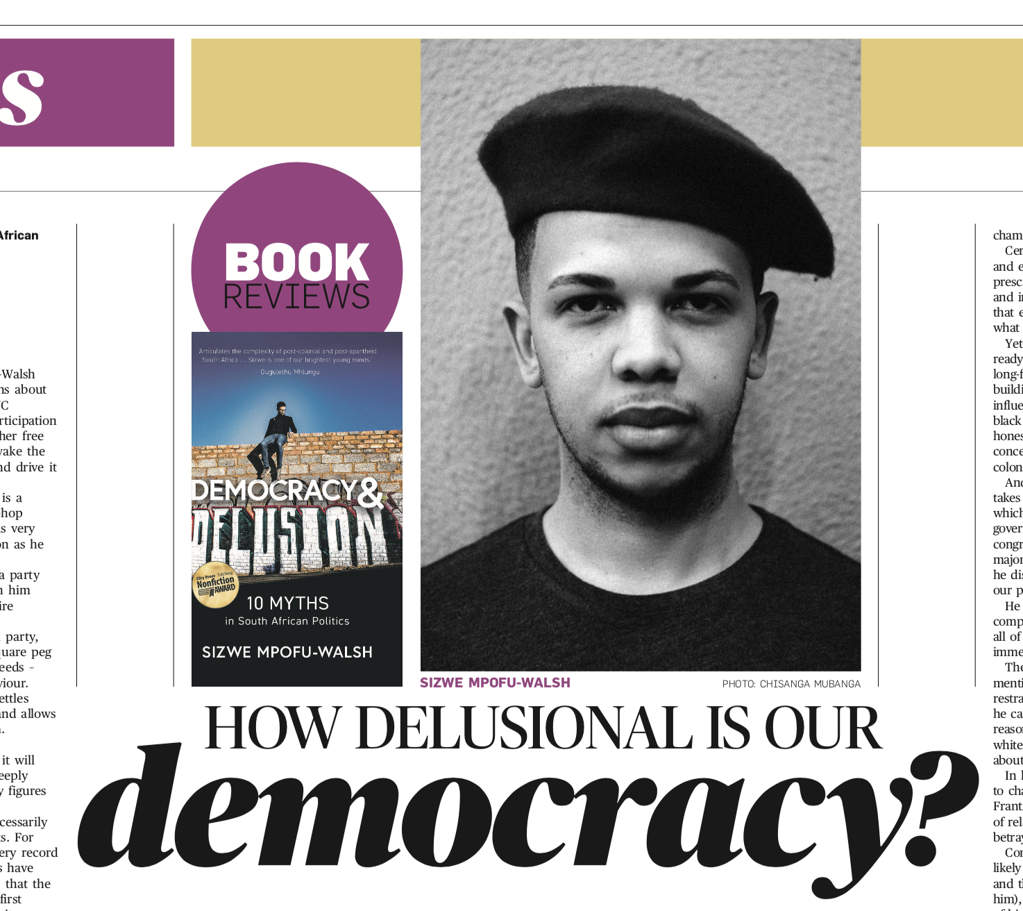 Book Review: Democracy and Delusion by Sizwe Mpofu-Walsh